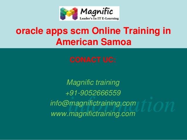 Oracle apps scm online training in american samoa
