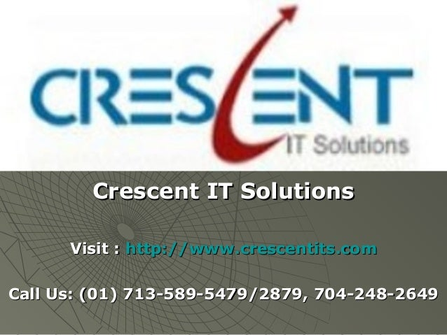 Oracle apps technical Online Training & Placement Support @ Crescent IT Solutions