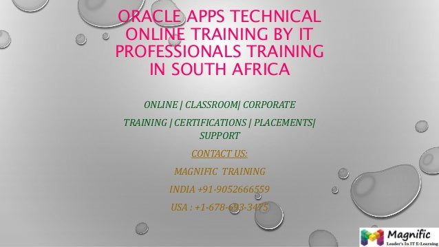 Oracle apps technical online training by i t professionals training in south africa