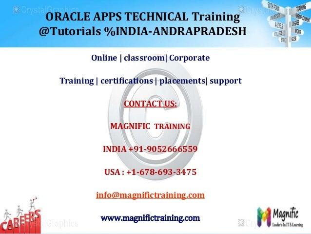 Oracle apps technical training @tutorials % india andrapradesh