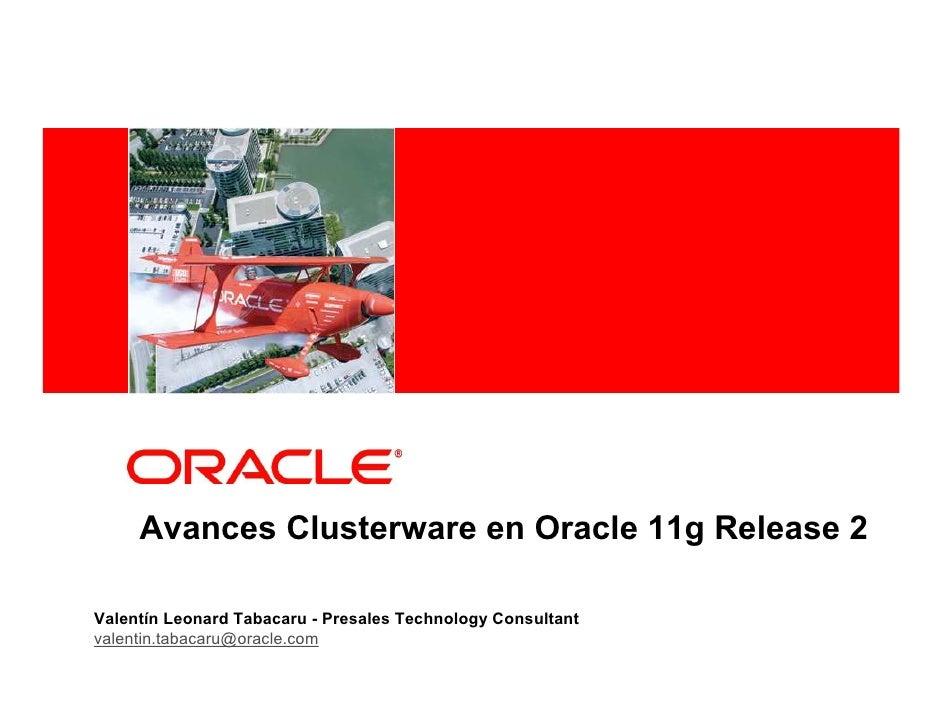 Avances Clusterware en Oracle 11g Release 2