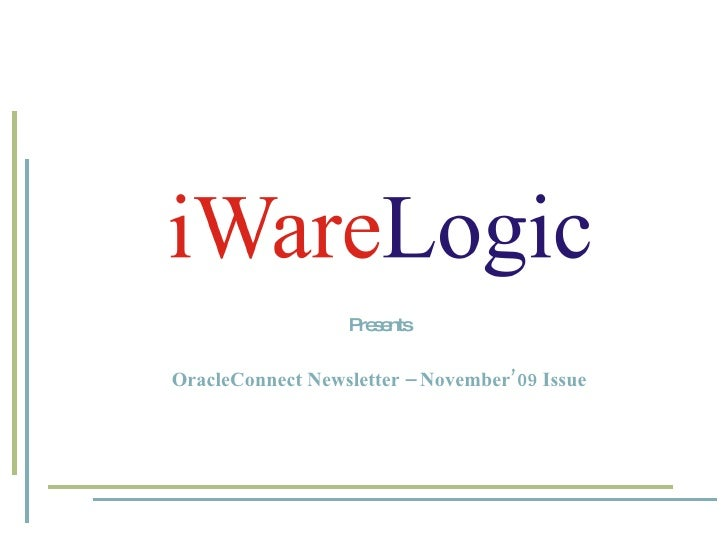 Presents OracleConnect Newsletter – November'09 Issue