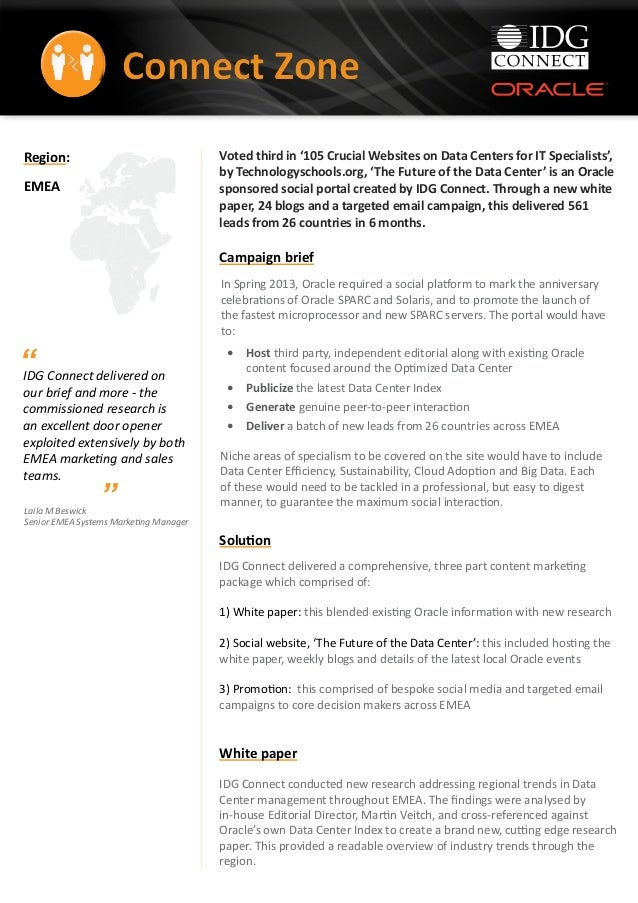 Oracle connect zone case study