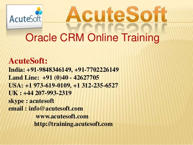 Oracle crm online training