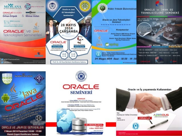 Oracle Database and Technologies Seminar - Istanbul University, 28.05.2014