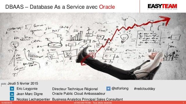 Directeur Technique Régional Oracle Public Cloud Ambassadeur #redcloudday Jeudi 5 février 2015 10/02/2015 2014© EASYTEAM -...