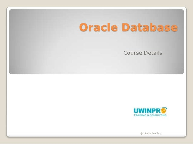 Oracle 11g Database - Course