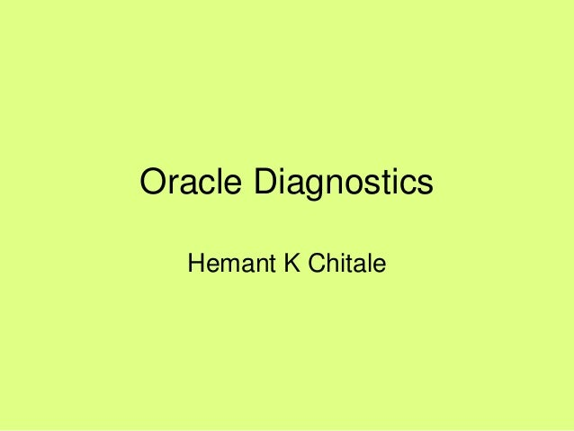 Oracle Diagnostics : Explain Plans (Simple)
