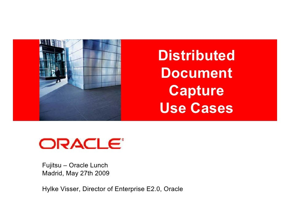 Oracle Distributed Document Capture