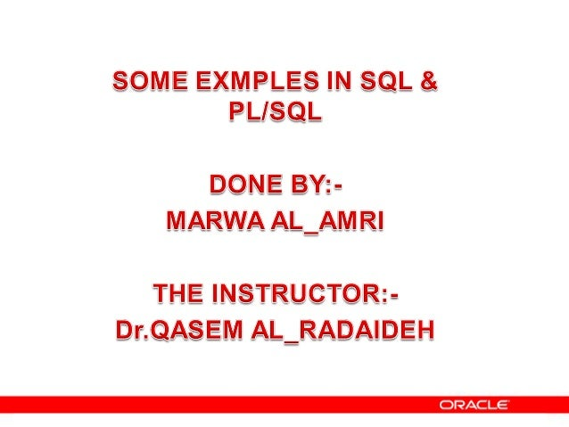 Oracle examples