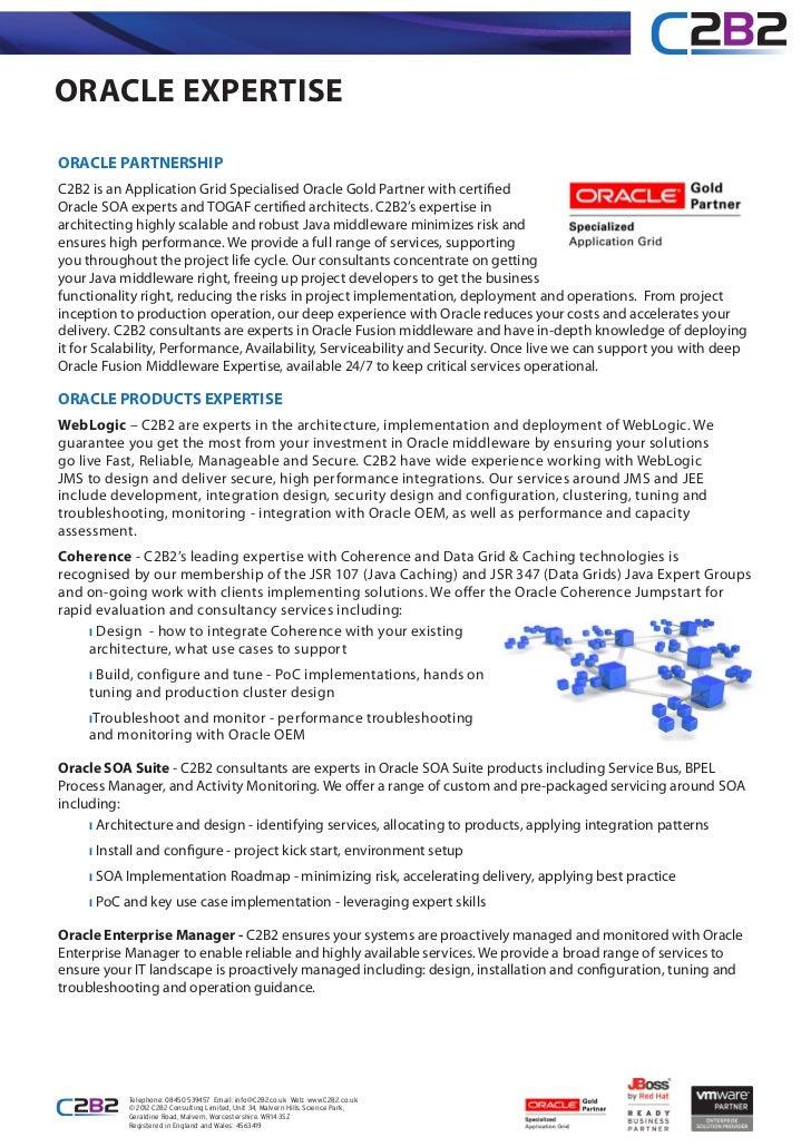 C2B2 Oracle Expertise