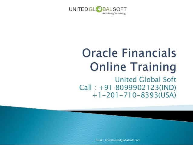 Oracle financials online training in india