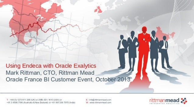 Using Endeca with Oracle Exalytics - Oracle France BI Customer Event, October 2013