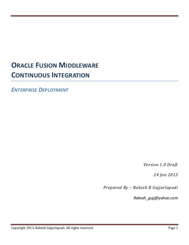 Oracle fusionmiddlewarecontinuosintegration slideshare_v1