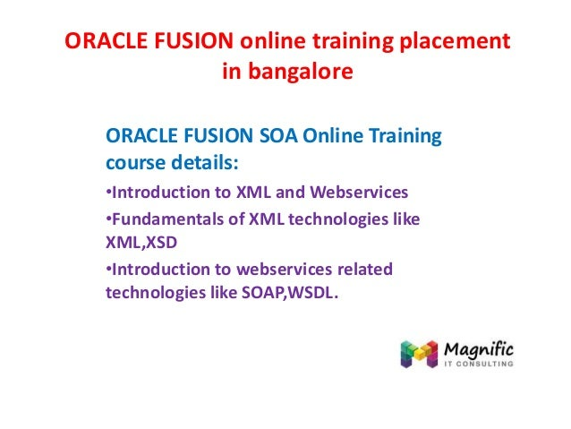 Oracle fusion online training placement in bangalore
