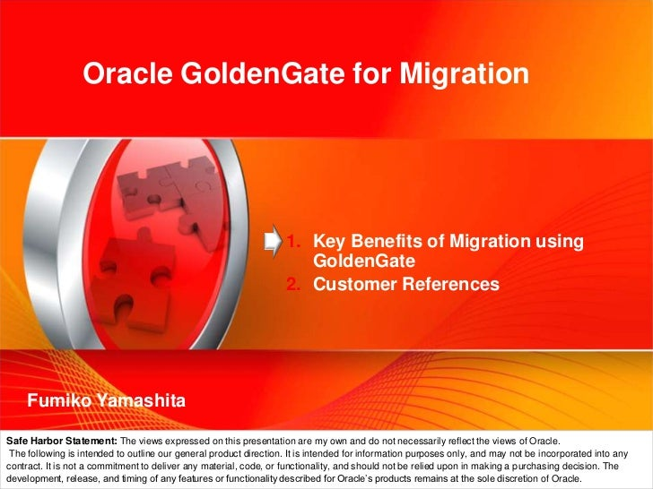 Oracle GoldenGate for Zero Downtime Migration