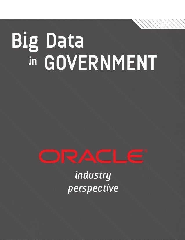 Big Data  in GOVERNMENT      industry     perspective