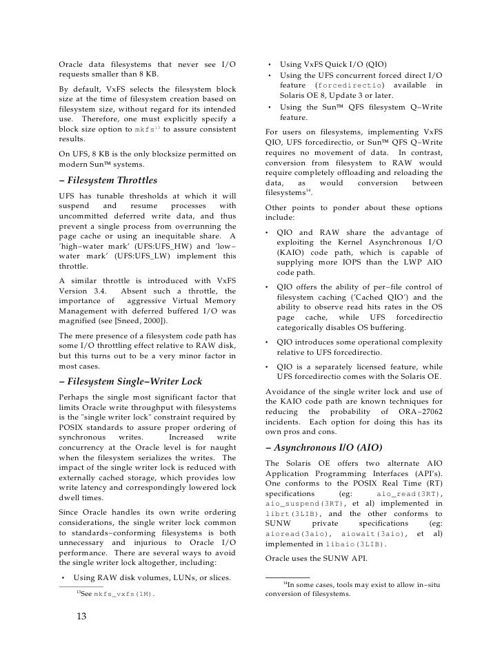Oracle I/O Supply and Demand
