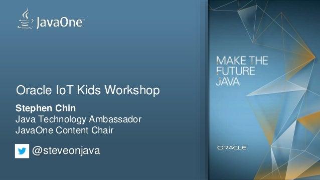 Oracle IoT Kids Workshop