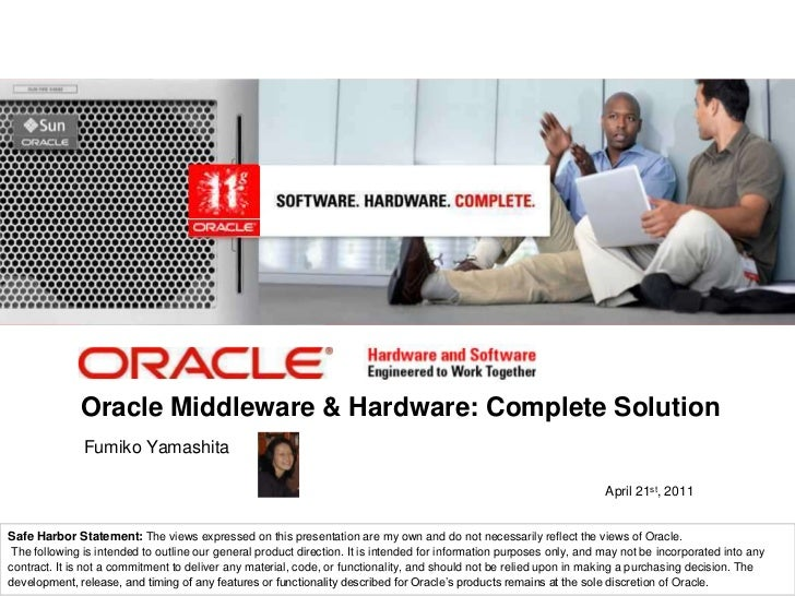 Oracle Middleware and Hardware Complete Solution