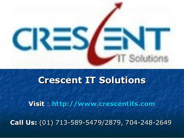 Oracle OAF Online Training & Placement Support @ Crescent IT Solutions
