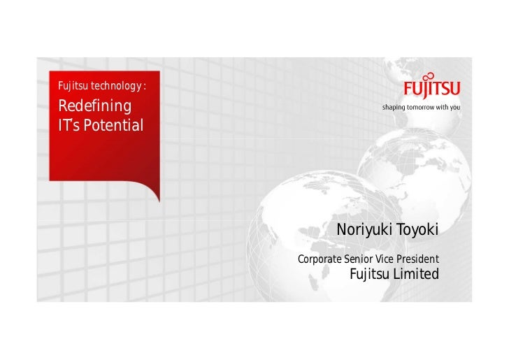 Fujitsu keynote at Oracle OpenWorld 2012