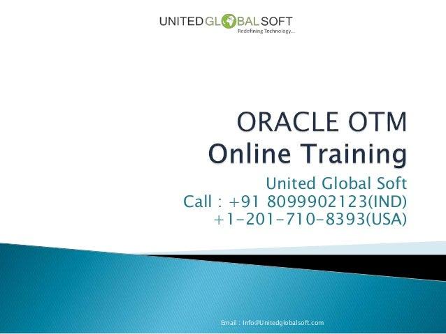 Oracle OTM Online Training in Hyderabad