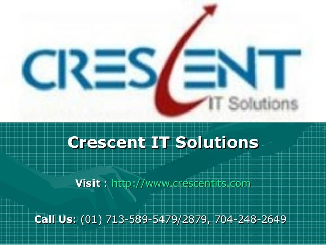Oracle PL SQL Online Training and Placement Support @ Crescent IT Solutions