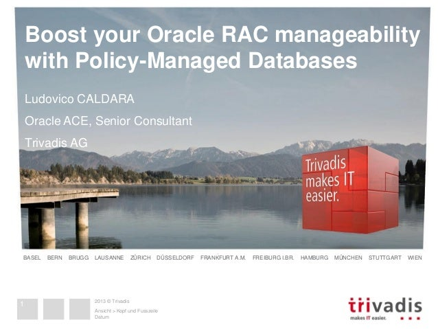 Boost your Oracle RAC manageability with Policy-Managed Databases