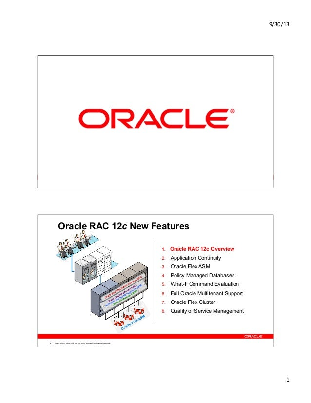 Oracle RAC 12c New Features List OOW13