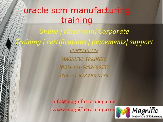 Oracle scm manufacturing training