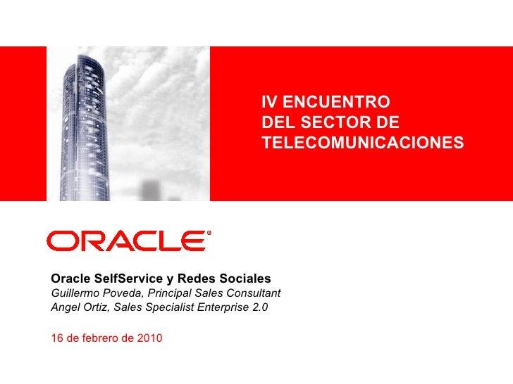 Oracle Self Service Webcenter Soa Telco V 5