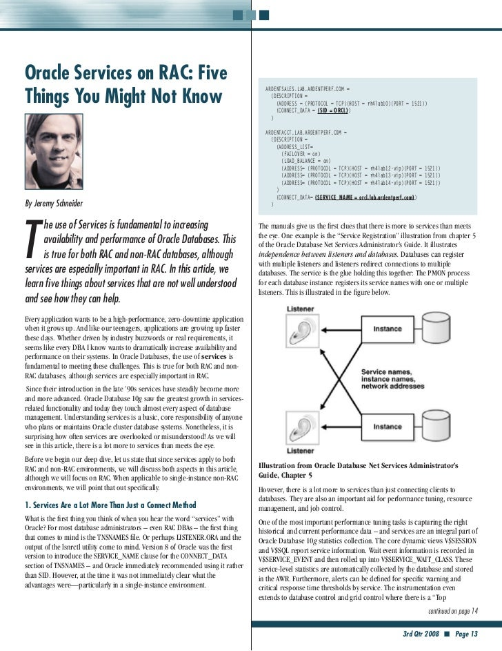 Oracle Services on RAC: FiveThings You Might Not Know                                                                     ...