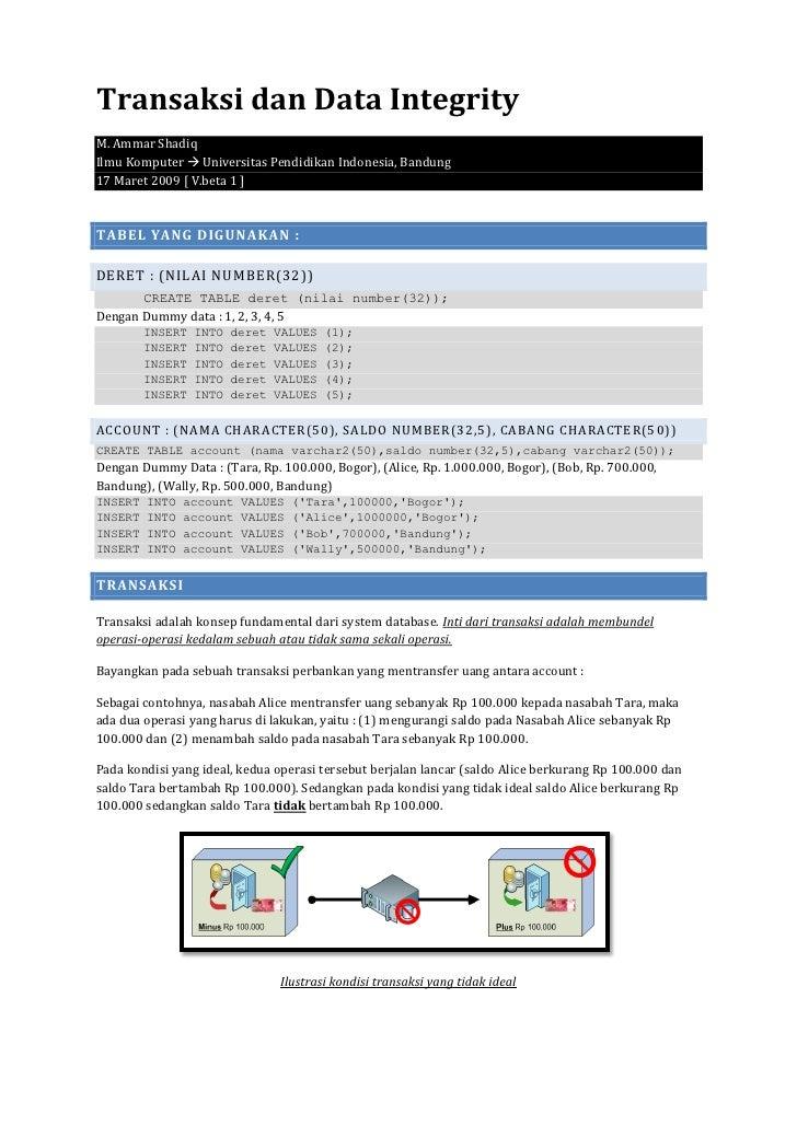 Oracle transaksi