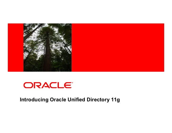 Oracle unified directory_11g