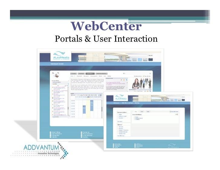 WebCenterPortals & User Interaction