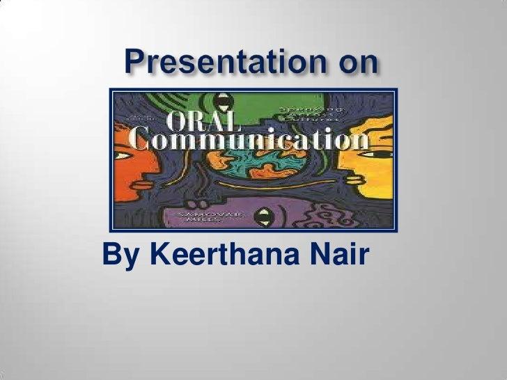 Oral communication (2)