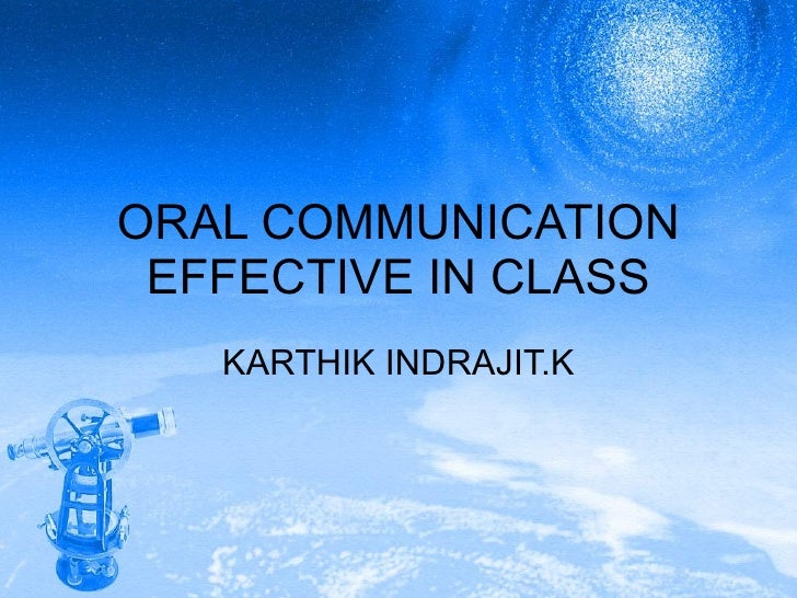 Oral Communication Effective In Class
