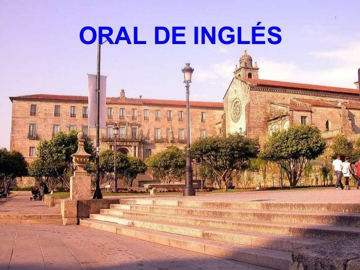 ORAL DE INGLÉS