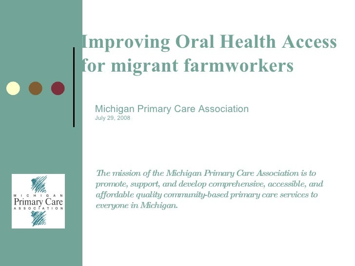Improving Oral Health Access Migrant and Seasonal Workers