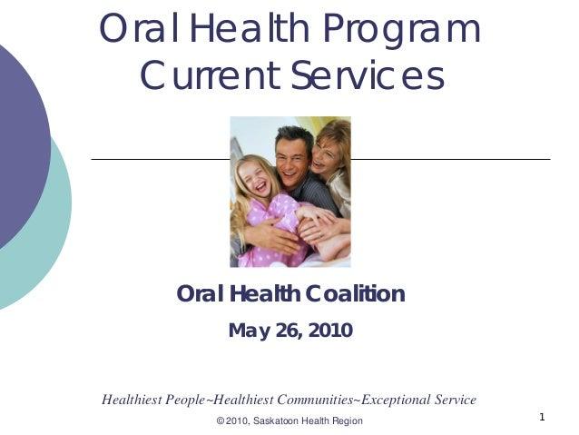 Oral health program current services  oral health coalition
