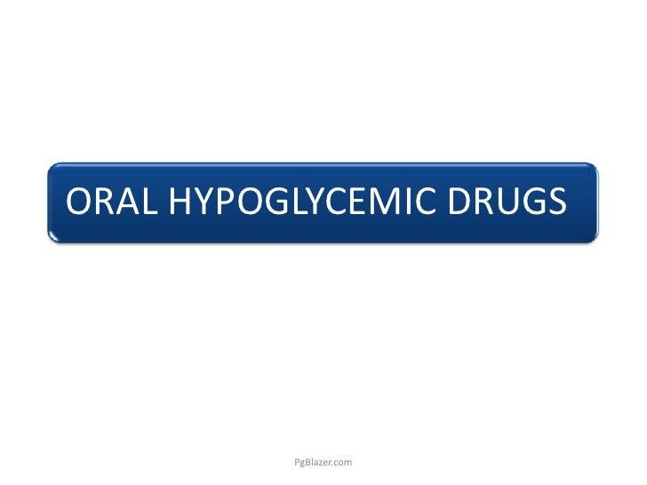 Oral Hypoglycemic Drugs - Sulphonylureas