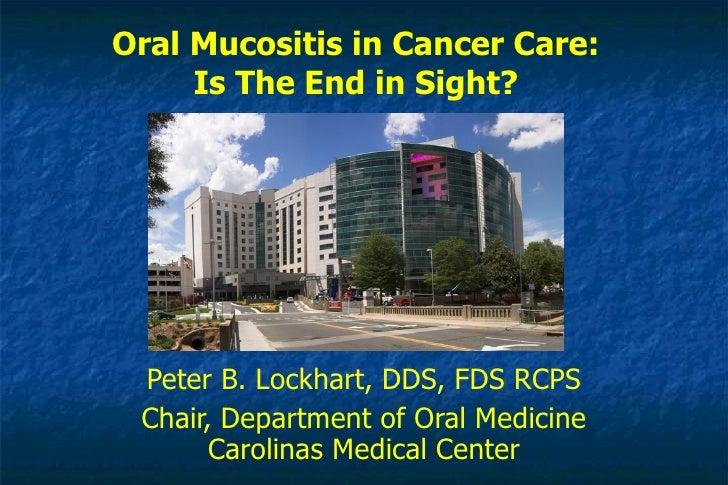 Oral Mucositis In Cancer Care