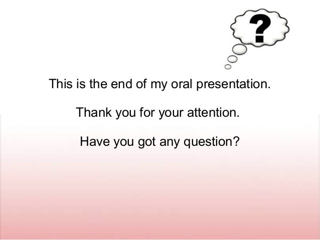 how to say oral presentation