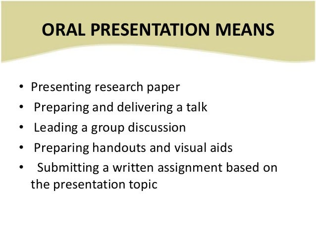Final, sorry, Good oral presentation topics think