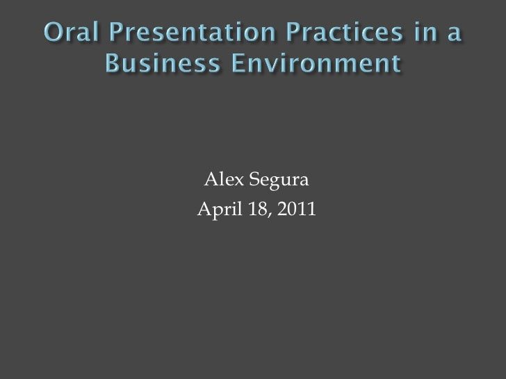 oral presentation best practices