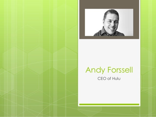 Andy Forssell CEO of Hulu