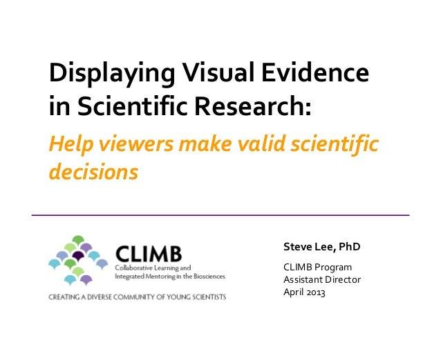 Oral presentation skills 4   displaying visual evidence 2013
