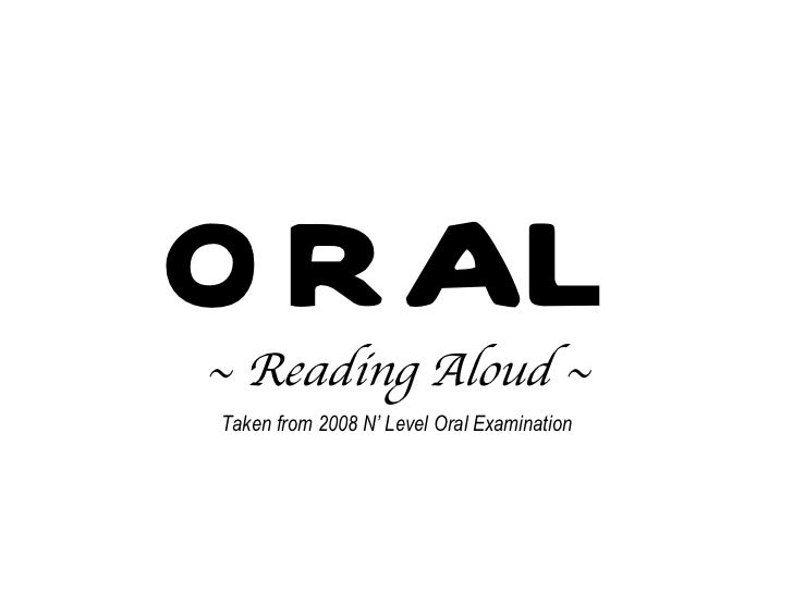Oral reading aloud_(2008_passage)