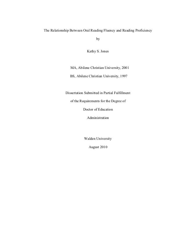 Fluency masters thesis